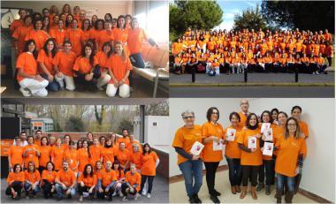 Els professionals de l'ICO pinten el món de taronja per denunciar la violència de gènere