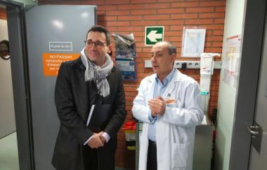 El director del Servei Català de la Salut, David Elvira, visita la nova Unitat d'Atenció Continuada Oncològica de l'ICO Girona